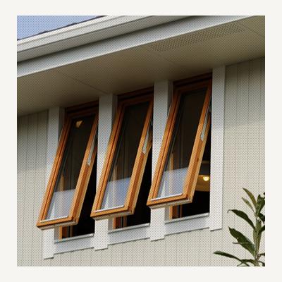 スウェーデンハウスの木製サッシ