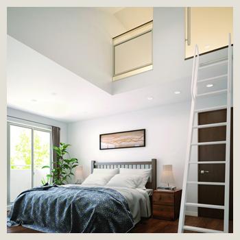 寝室のロフト収納