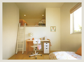 子ども部屋のロフト収納