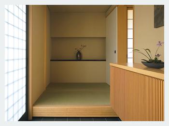 畳敷きの玄関