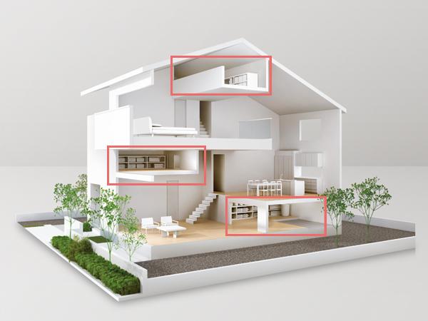 蔵のある家断面図