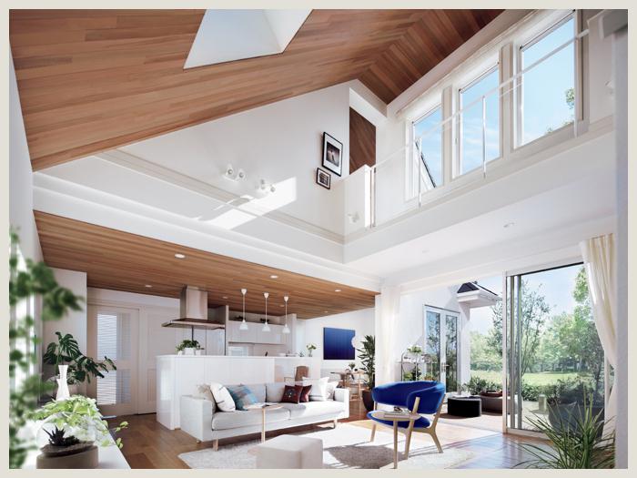 三井ホームの勾配天井