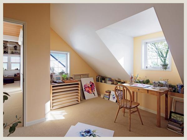 三井ホームの屋根裏書斎
