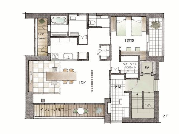 ミサワホーム・錦糸町展示場・間取り・2階