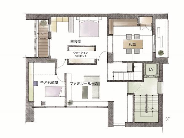 ミサワホーム・錦糸町展示場・間取り・3階