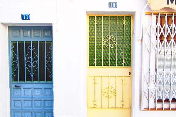 スペイン・ミハスの街・玄関ドア